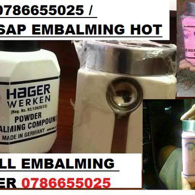Namibia supplier for hager werken embalming compound powder +27786655025 / whatsapp