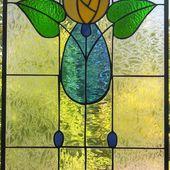 Mackintosh rose stai - Vitrail Tiffany