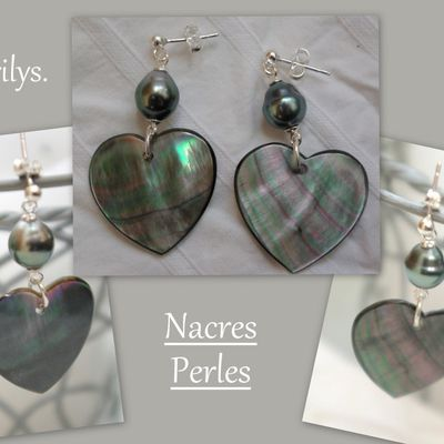 Perles et nacres, 2 paires magnifiques !