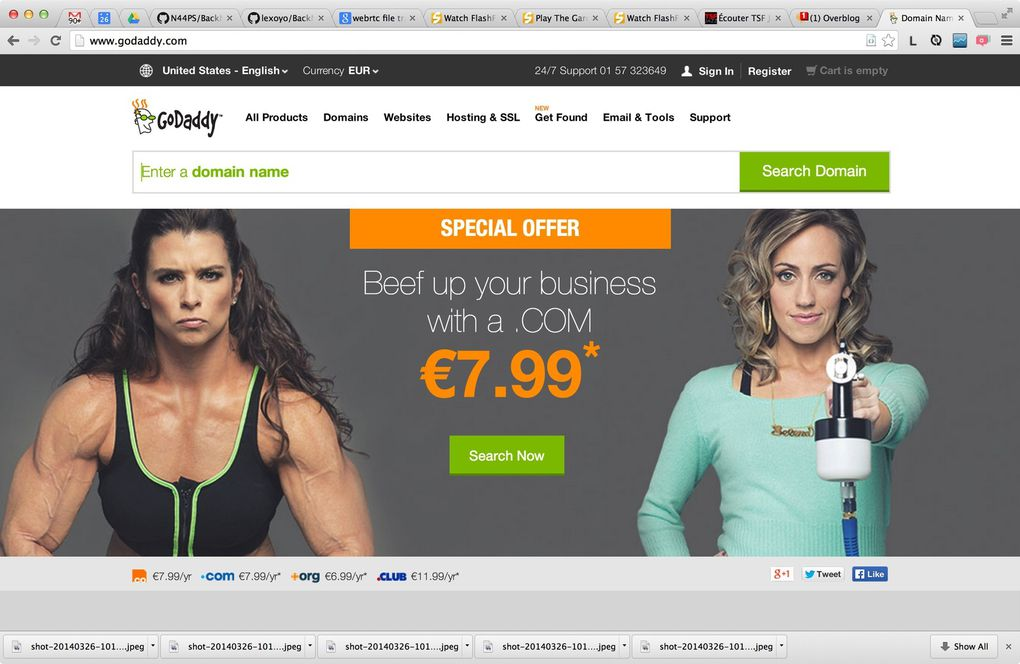 Landing pages: Godaddy, Wix, Weebly, Squarespace