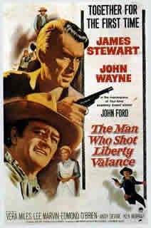 L'Homme qui tua Liberty Valance de John Ford avec John Wayne - James Stewart - Lee Marvin - Vera Miles - Andy Devine - Edmond O'Brien - Lee Van Cleef - Woody Strode - John Carradine - Strother Martin - Jeanette Nolan - Ken Murray - John Qualen - Denver Pyle - Carleton Young - Willis Bouchey - Oothout Zabriskie Whitehead - Paul Birch - Robert F Simon - Joseph Hoover