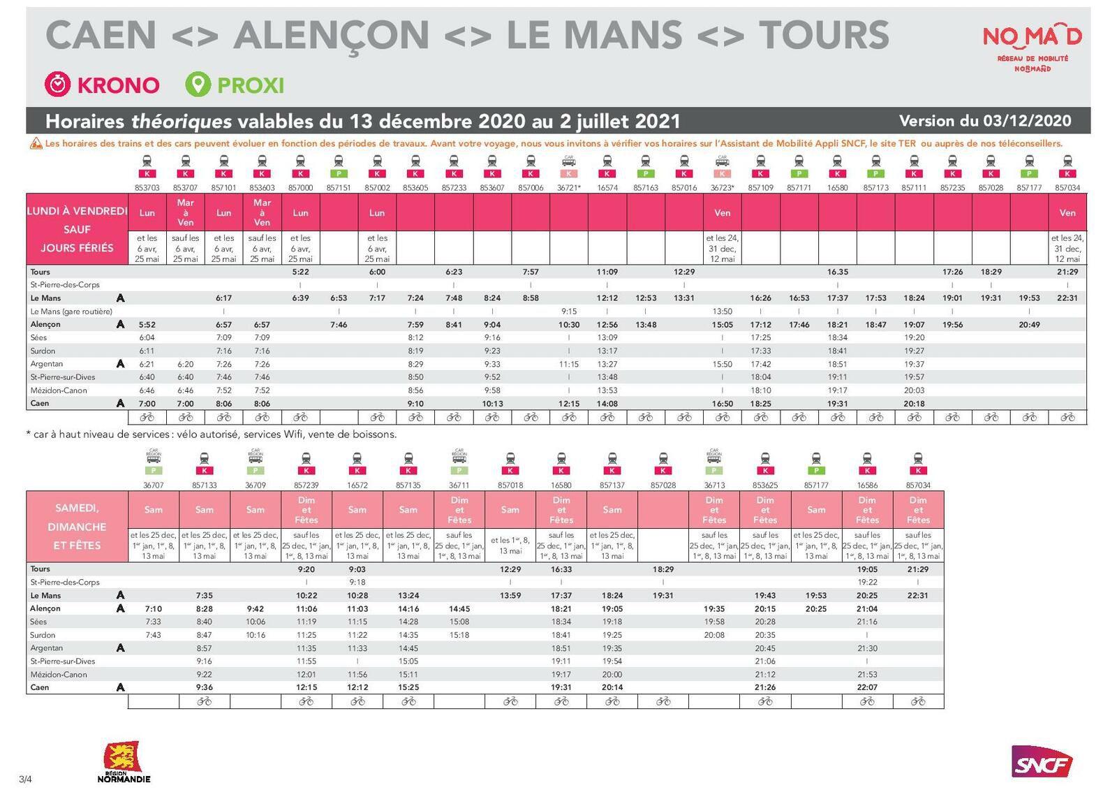 Tours > Caen