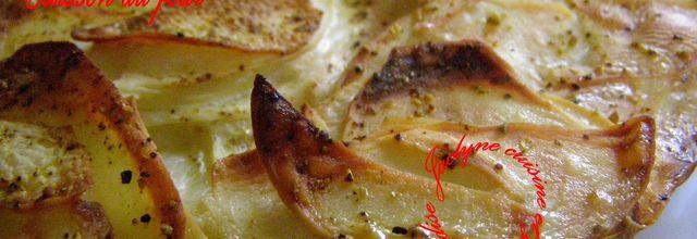 Galette de pommes de terre, cuisson au four, façon Jaclyne (Gratin Dauphinois et Crique de mémé Juliette revisités)