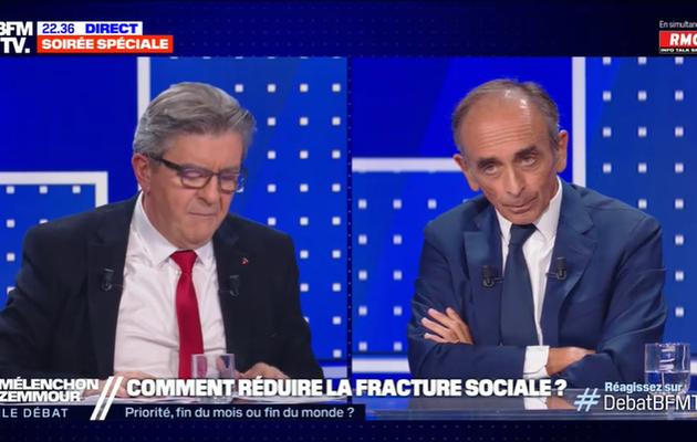 Media / TV : BFMTV cartonne avec le débat Zemmour/Mélenchon