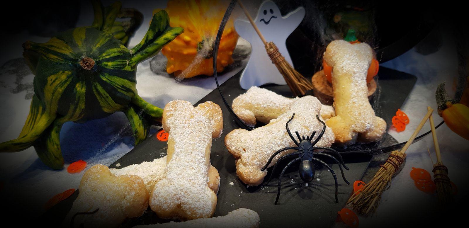 Os d'halloween aux amandes