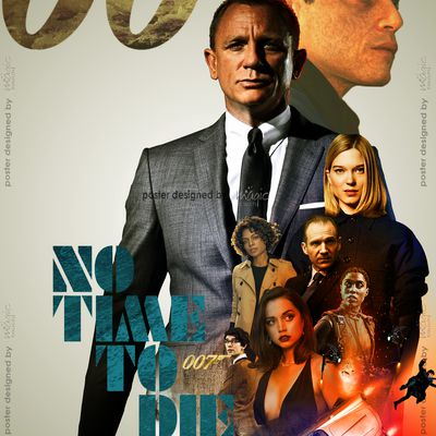No Time T Die: A real masterstroke this time, another poster designed by MT for IMAX (India)