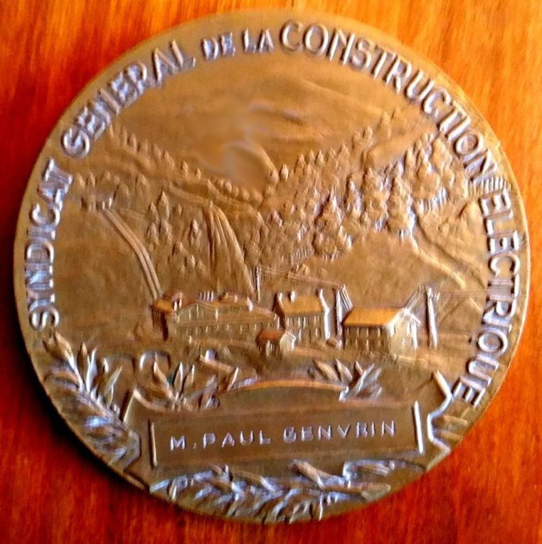 Médaille en bronze du SYNDICAT GENERAL de la CONSTRUCTION ELECTRIQUE  par Charles Pillet