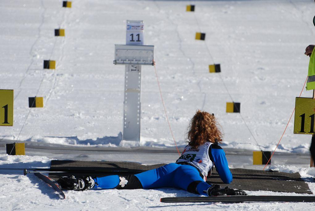 Au contamines. Samedi biathlon Dimanche classique