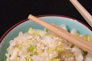 Salade de choux comme au restaurant japonais