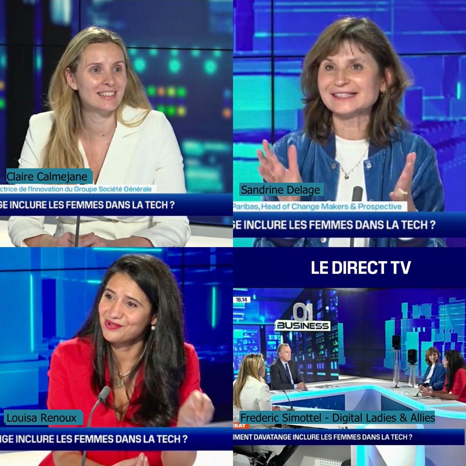 #WomenIntech Sandrine Delage - Digital Ladies & Allies - BFMBusiness - Fédéric Simottel