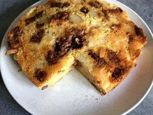 Gâteau aux poires et chocolat praliné