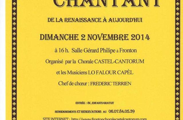 FRONTON : GRAND BAL ORGANISE PAR LA CHORALE CASTEL'CANTORUM
