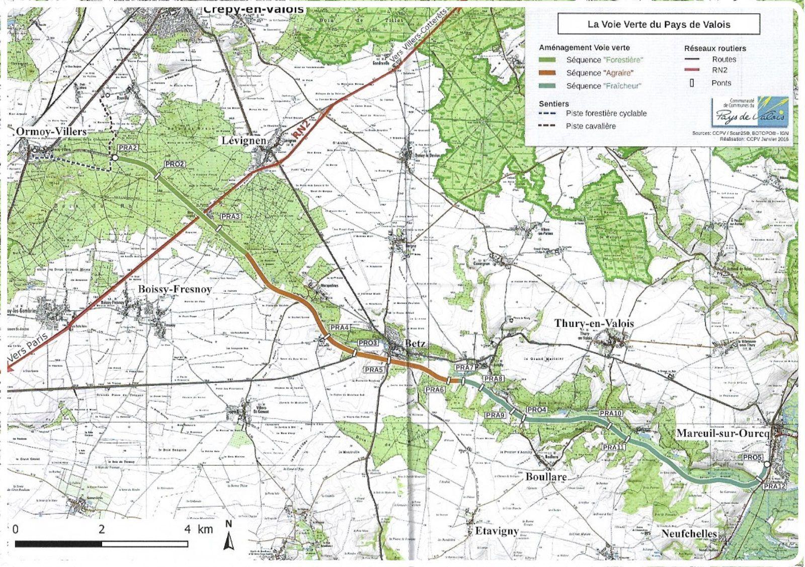La voie verte dans le pays de Valois