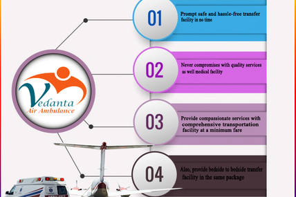 The Vedanta Air Ambulance Services in Indore Updated the High Class of Amenities Recently