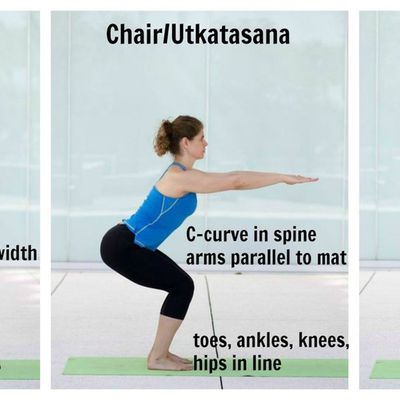 3) Utkatasana or the chair pose:- Benefits:-1) It strengthens the core muscles,