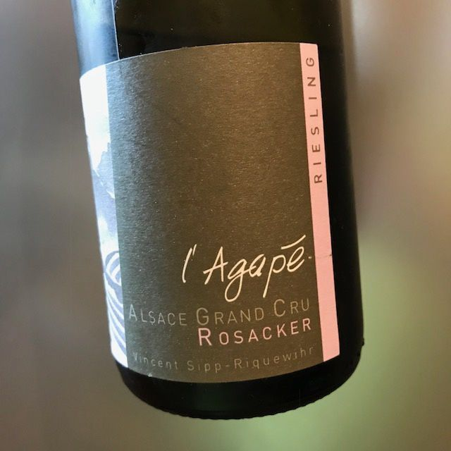 Alsace grand cru Rosacker riesling 2007 Vincent Sipp
