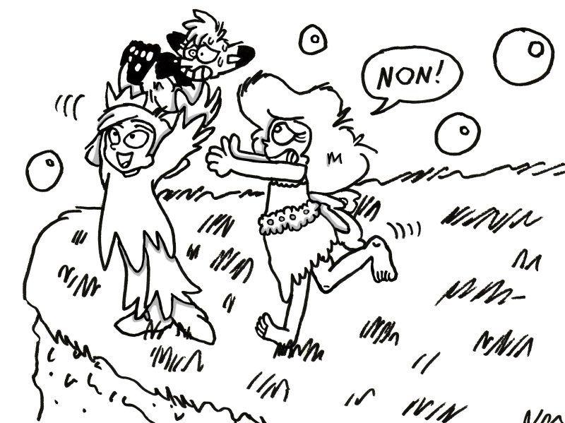<p>Ce sont des dessins des personnages que j'ai cr&eacute;&eacute;s:</p> <p><br /></p>