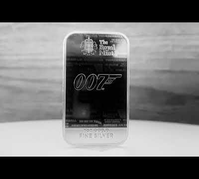 The Royal Mint: James Bond 007 Barre Limited Edition silver 1oz: No Time to Die 2020