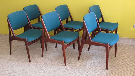 Chaises Scandinaves Arne Vodder 1960