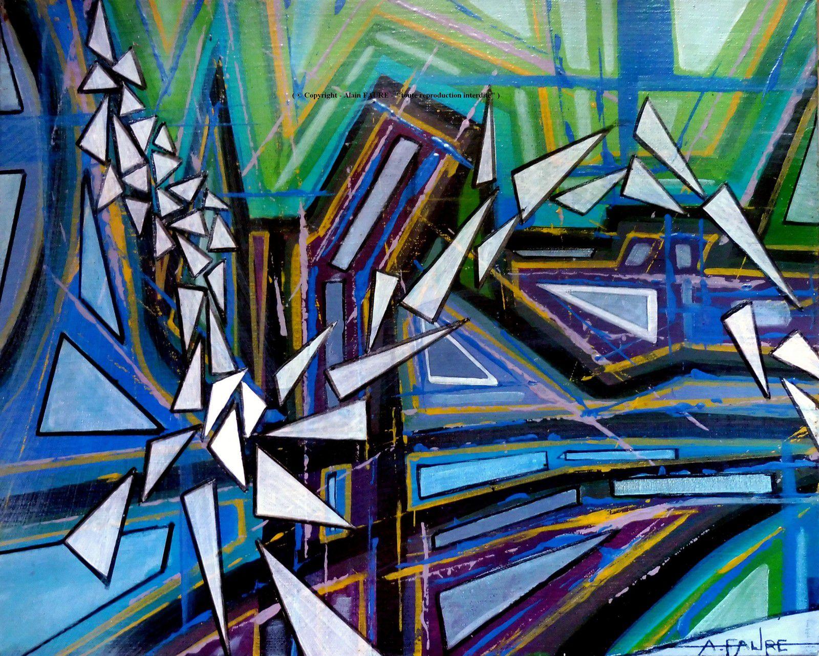 VOL LIBRE - Peinture Acrylique sur Toile: 41 x 33 cm ..........300 € - Multipliant les disciplines grâce aux progrès technologiques en tous genres, le vol libre est devenu très prisé des nouveaux chevaliers du ciel. Ainsi, planeurs, deltaplanes, parapentes ou cages de pilotage sont des pratiques encadrées par une fédération (FFVL) qui gère également le cerf-volant ou le boomerang…mais aussi d'autres activités plus périlleuses comme le Speed Riding (sport associant la voile et le ski).