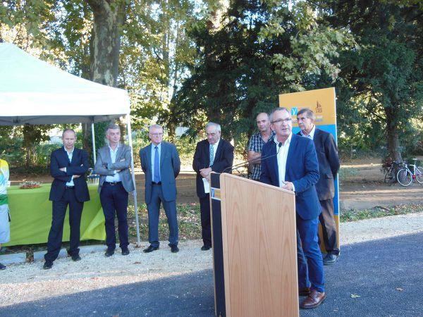 Vélos : les éléments de mon intervention lors de l'inauguration d'une section à Robion (84)...