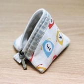 Triangle Coin Purse. How to sew. ~
