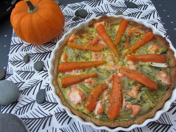 tarte au fenouil et au saumon