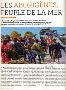 Article de Connaissance des Arts sur l'exposition Taba Naba, Monaco