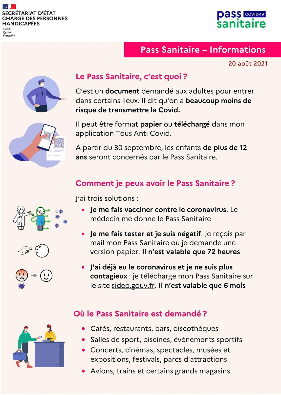 Le Pass sanitaire expliqué en français simplifié