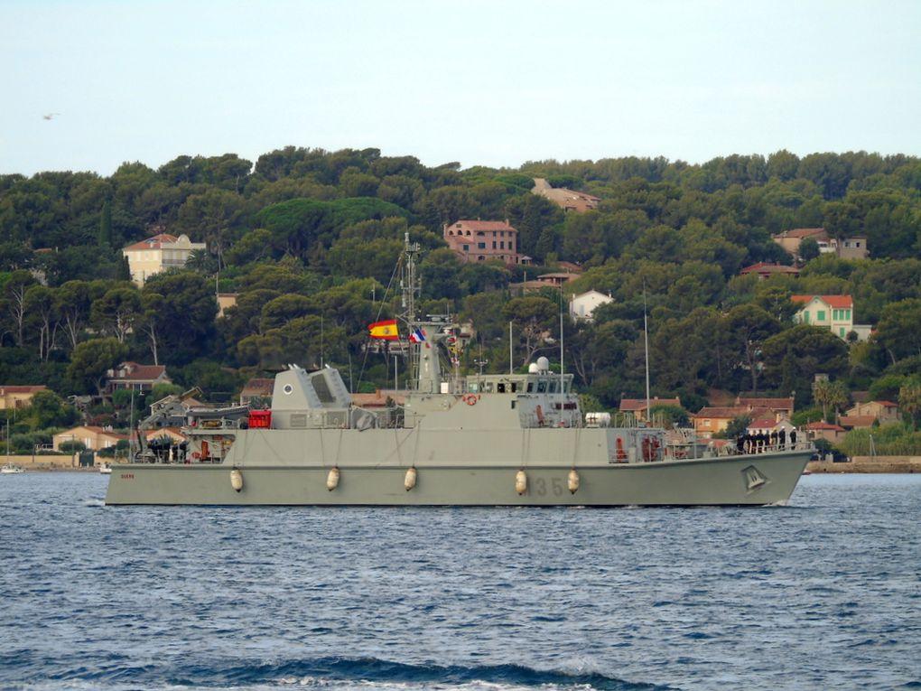 DUERO  M35 , dragueur de mines de la marine espagnole arrivant à Toulon le 13 septembre 2018