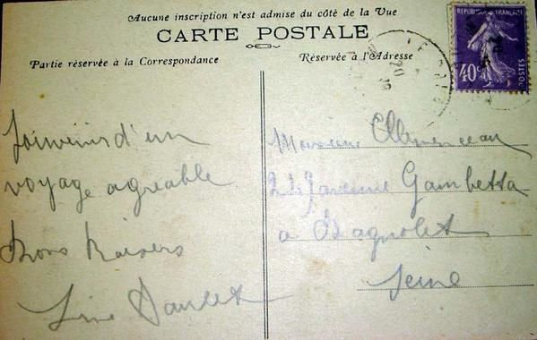 cartes postales concernant Line ou Paule ou Madeleine ou Guy