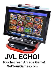 See The All New JVL ECHO Touch-Screen Arcade Game! Own Your Own!