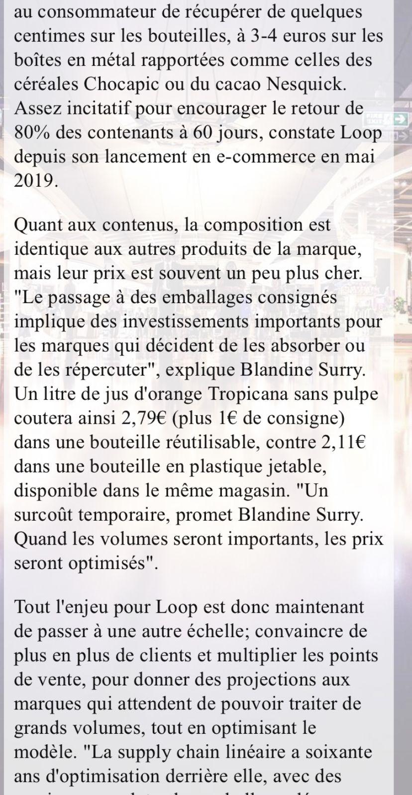 Économie circulaire :grâce à Carrefour,Loop passe du e-commerce aux magasins parisiens