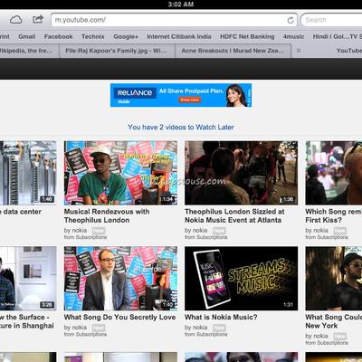youtube pour ipad1 et iphones anciennes generation