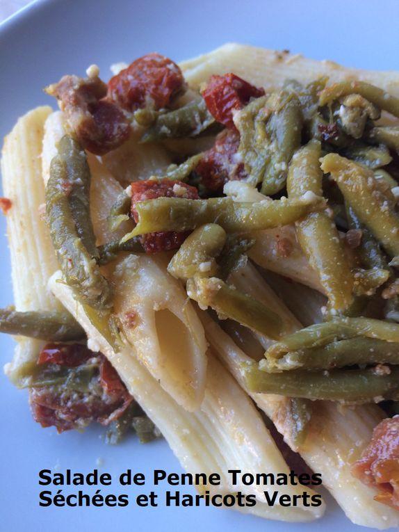 Salade de Penne Tomates Séchées et Haricots Verts