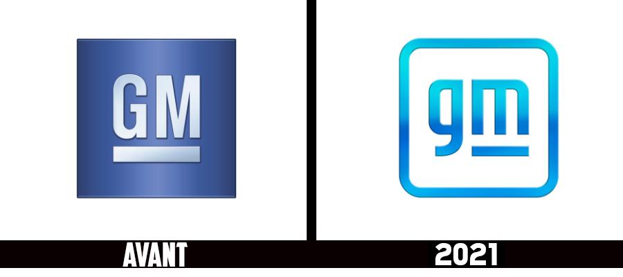 Branding : nouveau logo 2021 pour le groupe américain General Motors - GM