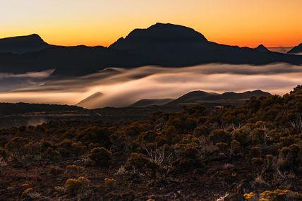 Couché de soleil sur Route du Volcan
