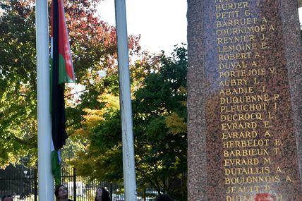 Moments d'émotions à Tremblay, le drapeau Palestinien flotte devant la Mairie