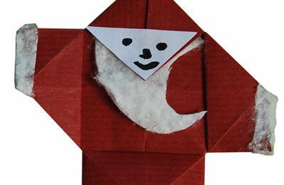 origami : le Père-Noël