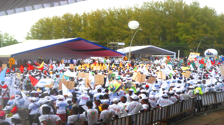 Congo-Brazzaville Election: Candidate Sassou N'Guesso ends his election campaign with a big rally in Brazzaville