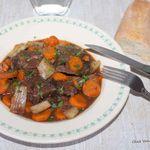 Mijoté de Joues de bœuf aux carottes et céleri branche