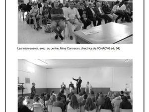 Textes écrits par les élèves de troisième du Collège de Forcalquier (04) en octobre 2017 Harkis à Ongles.