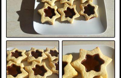 Biscuits étoile au caramel au beurre salé