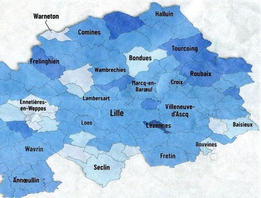 Covid-19 : Région... MEL... Secteur Halluin... CHR Lille (Avril 2021).