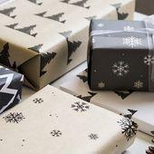 Printables de Noël : les papiers cadeaux graphiques !