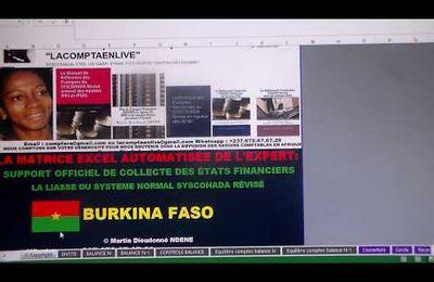 BURKINA FASO : RECEVEZ LA MATRICE EXCEL AUTOMATISÉE DE LA LIASSE FISCALE ET COMPTABLE OFFICIELLE DU BURKINA FASO