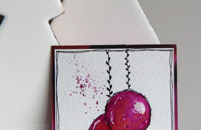Watercolors Baubles_Cartes de voeux
