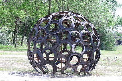 Globe en pneus