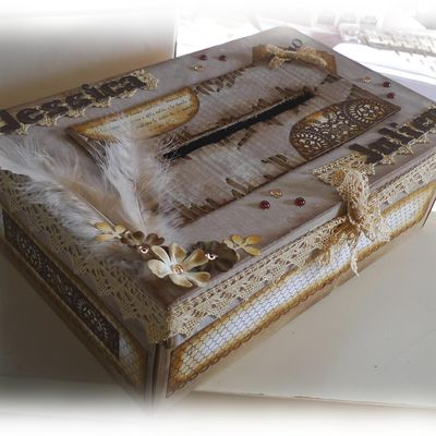 urne chocolat / ivoire