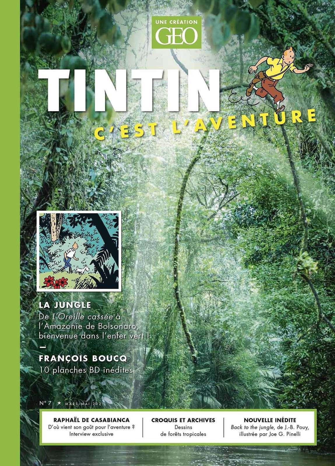 """Couverture du magazine """"Tintin c'est l'aventure"""" n°7"""